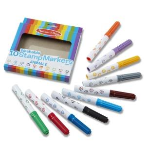 Stampile marker lavabile - set 10 animale (MD9078)