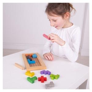 Tetris din lemn joc de logica (BJ945)