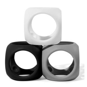 Oibo - set 3 jucarii senzoriale flexibile (monocrom) (MK43421)