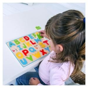 Puzzle din lemn Alfabetul - BigJigs (BJ755)